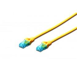 DK-1512-010Y / A-MCUP80010Y, Пач кабел Cat.5e 1m UTP жълт, Assmann