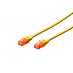DK-1617-0025/Y, Patch cable Cat.6 0,25m UTP жълт, Assmann