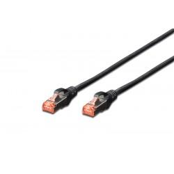 DK-1641-020/BL DK-1644-020/BL, Пач кабел Cat.6 2m SFTP черен, Assmann