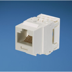 NK688MWH, Category 6, 8-position, 8-wire, keystone punchdown jack module. White