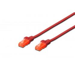 DK-1612-010/R, Patch cable Cat.6 1m UTP червен, Assmann
