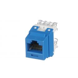 NK688MBU, Category 6, 8-position, 8-wire, keystone punchdown jack module. Blue