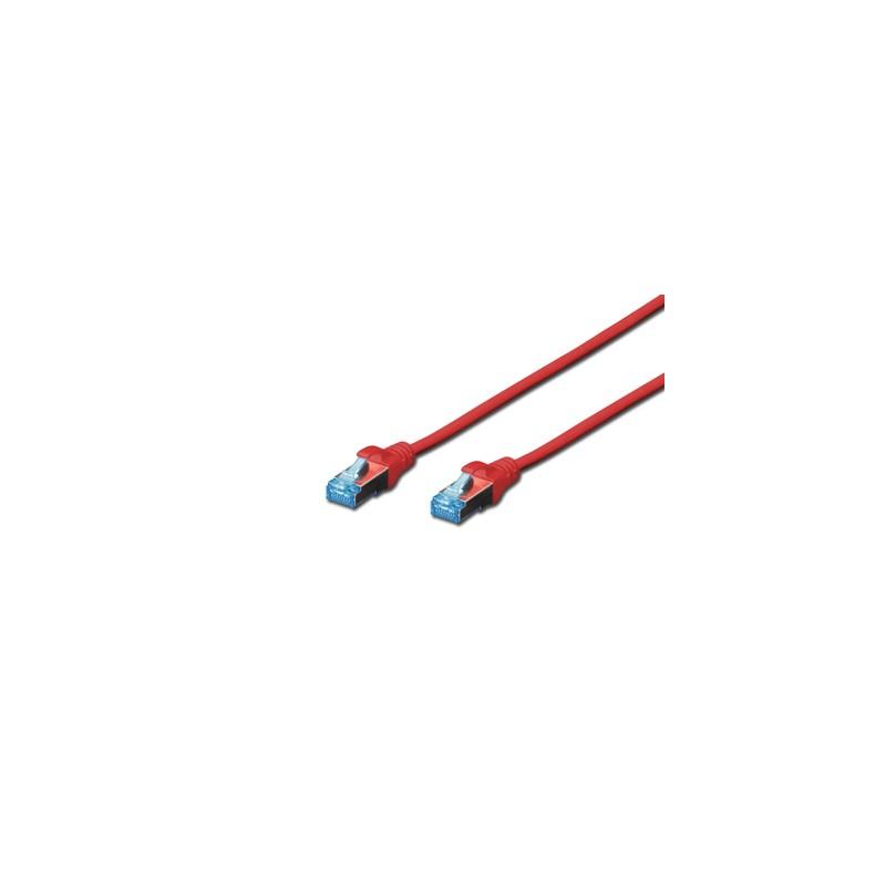 A-MCSSP80020R, Пач кабел  Cat.5e 2m SFTP червен, Assmann