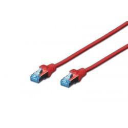 DK-1532-005/R  A-MCSSP80005R, Пач кабел  Cat.5e 0.5m SFTP червен, Assmann