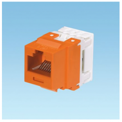 NK688MOR, Category 6, 8-position, 8-wire, keystone punchdown jack module. Orange.
