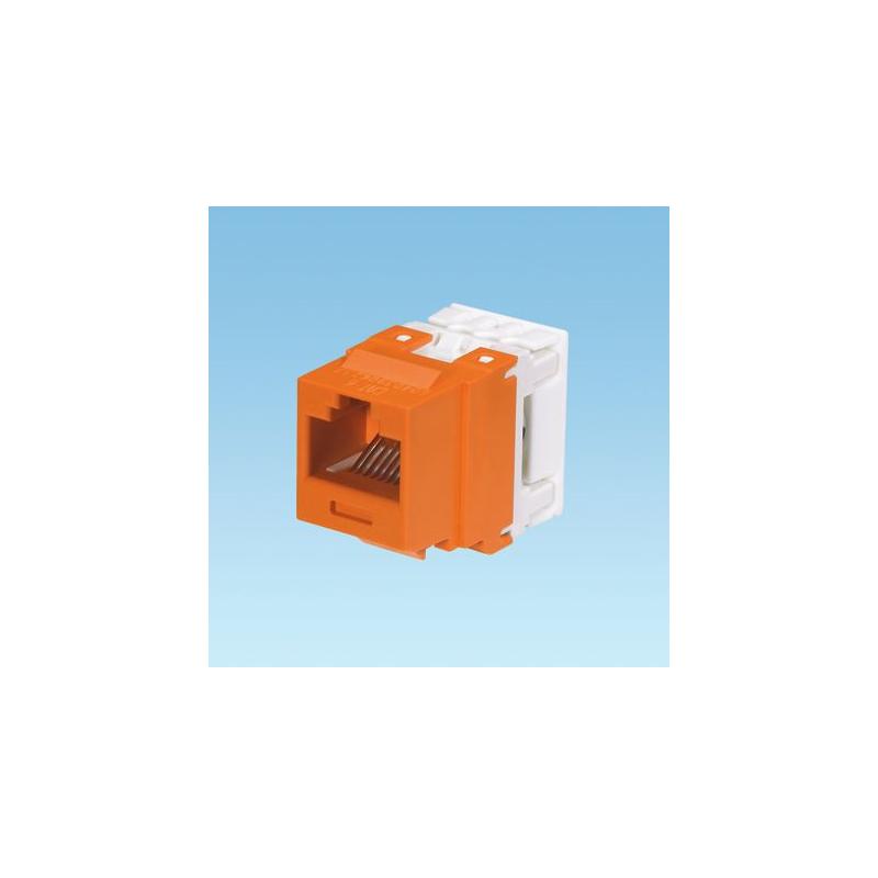 NK688MOR, Category 6, 8-position, 8-wire, keystone punchdown jack module. Orange.